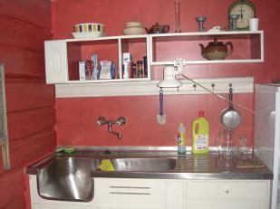 The kitchen is fully equipped for 6 persons, frigde with freezer, stove ,coffee-maschine, pots and pans aso.